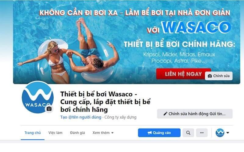 fanpage của wasaco trên facebook