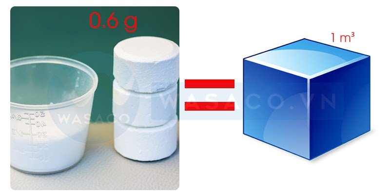 Cách sử dụng hóa chất bể bơi Clo viên 2 gam
