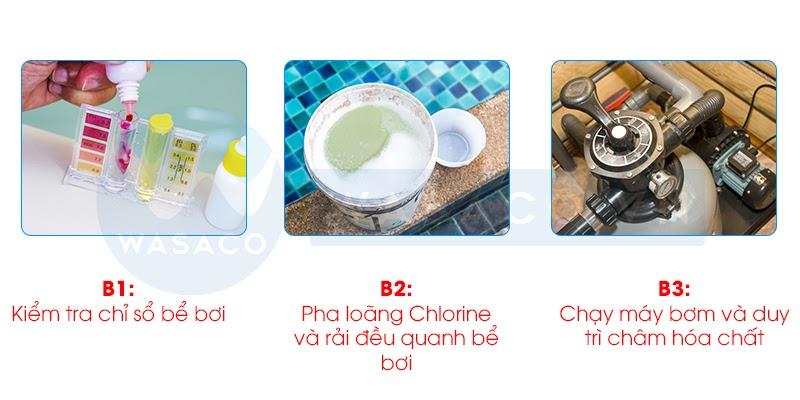 Cách sử dụng hóa chất Chlorine Ấn Độ (45kg)