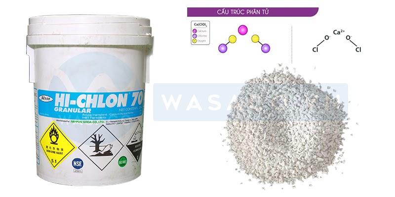 Cấu trúc hóa chất Chlorine Nippon 70%