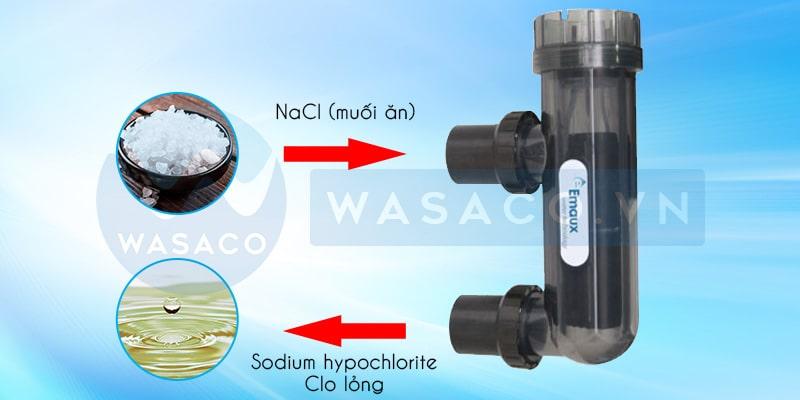 Cơ chế hoạt động của bộ điện phân muối Emaux SSC