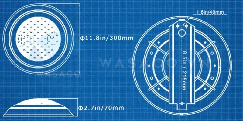 Kích thước đèn led vàng trang trí TF12-12Y