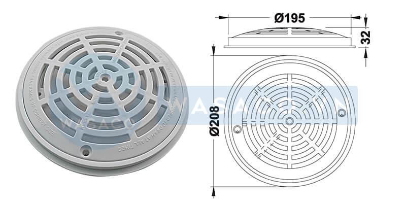 Thông số Nắp thu đáy hình tròn SP1030