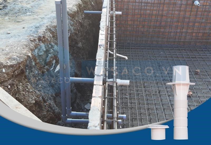 ứng dụng của ống xuyên thành bể Kripsol