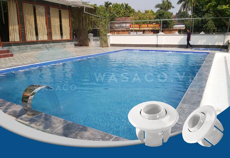 Ứng dụng đầu trả nước bể bơi series EM