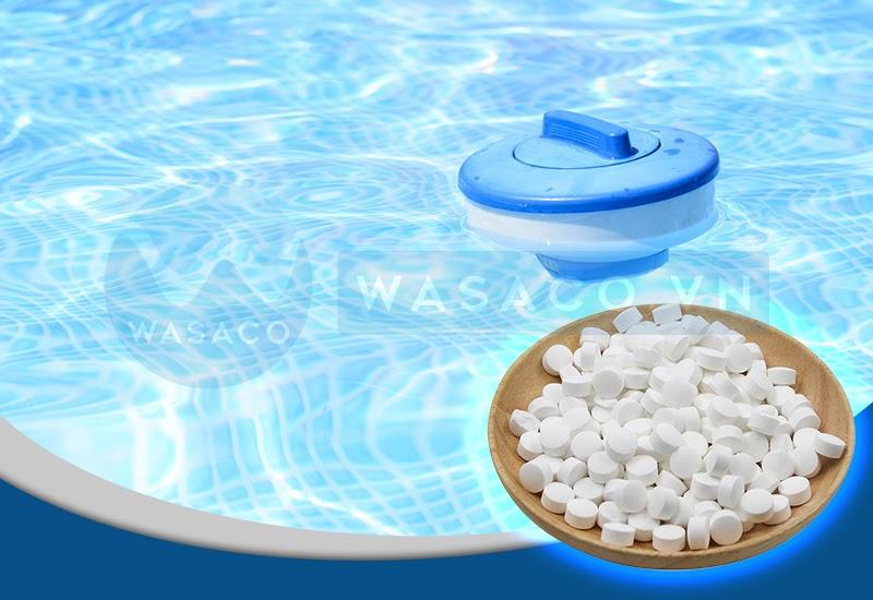 Ứng dụng hóa chất bể bơi Clo viên 2 gam